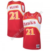 Atlanta Hawks Basketball Trøjer NBA 1986-87 Dominique Wilkins 21# Rød Hardwood Classics Swingman..
