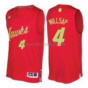 Atlanta Hawks 2016 Paul Millsap 4# Jul NBA Basketball Trøjer..