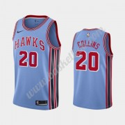 Atlanta Hawks Basketball Trøjer NBA 2019-20 John Collins 20# Blå Classics Edition Swingman..