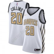 Atlanta Hawks Basketball Trøjer NBA 2019-20 John Collins 20# Hvid City Edition Swingman..
