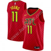 Atlanta Hawks Basketball Trøjer NBA 2019-20 Trae Young 11# Rød Statement Edition Swingman..
