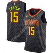 Atlanta Hawks Basketball Trøjer NBA 2019-20 Vince Carter 15# Sort Icon Edition Swingman..