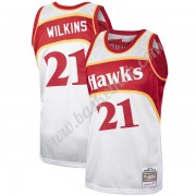 Atlanta Hawks Basketball Trøjer NBA Dominique Wilkins 21# Platinum Hardwood Classics Swingman..