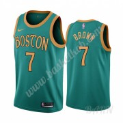 Billige Basketball Trøje Børn Boston Celtics 2019-20 Jaylen Brown 7# Grøn City Edition Swingman..
