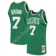 Boston Celtics Basketball Trøjer NBA 1985-86 Dee Brown 7# Grøn Hardwood Classics Swingman..