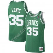 Boston Celtics Basketball Trøjer NBA 1987-88 Reggie Lewis 35# Grøn Hardwood Classics Swingman..