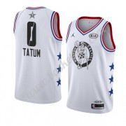 Boston Celtics 2019 Jayson Tatum 0# Hvid All Star Game Finished Swingman Basketball Trøjer..