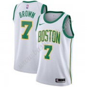 Boston Celtics Basketball Trøjer NBA 2019-20 Jaylen Brown 7# Hvid City Edition Swingman..