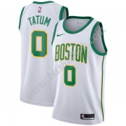 Boston Celtics Basketball Trøjer NBA 2019-20 Jayson Tatum 0# Hvid City Edition Swingman..