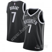 Billige Basketball Trøje Børn Brooklyn Nets 2019-20 Kevin Durant 7# Sort Icon Edition Swingman..