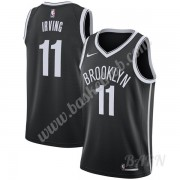 Billige Basketball Trøje Børn Brooklyn Nets 2019-20 Kyrie Irving 11# Sort Icon Edition Swingman