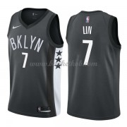Brooklyn Nets Basketball Trøjer 2018 Jeremy Lin 7# Statement Edition..