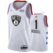 Brooklyn Nets 2019 Dangelo Russell 1# Hvid All Star Game Swingman Basketball Trøjer..