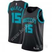 Billige Basketball Trøje Børn Charlotte Hornets 2019-20 Kemba Walker 15# Sort City Edition Swingman..