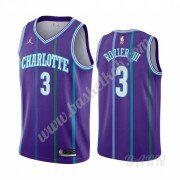 Billige Basketball Trøje Børn Charlotte Hornets 2019-20 Terry Rozier 3# Lilla Classics Edition Swing..