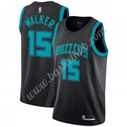 Charlotte Hornets Basketball Trøjer NBA 2019-20 Kemba Walker 15# Sort City Edition Swingman..