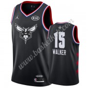 Charlotte Hornets 2019 Kemba Walker 15# Sort All Star Game Swingman Basketball Trøjer..