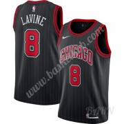 Billige Basketball Trøje Børn Chicago Bulls 2019-20 Zach Lavine 8# Sort Finished Statement Edition S..