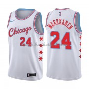 Chicago Bulls Basketball Trøjer 2018 Lauri Markkanen 24# City Edition..