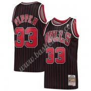 Chicago Bulls Basketball Trøjer NBA 1995-96 Scottie Pippen 33# Sort Hardwood Classics Swingman..