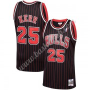 Chicago Bulls Basketball Trøjer NBA 1995-96 Steve Kerr 25# Sort Hardwood Classics Swingman..