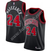 Chicago Bulls Basketball Trøjer NBA 2019-20 Lauri Markkanen 24# Sort Finished Statement Edition Swin..