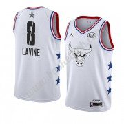 Chicago Bulls 2019 Zach Lavine 8# Hvid All Star Game Swingman Basketball Trøjer..