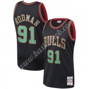 Chicago Bulls Basketball Trøjer NBA Dennis Rodman 91# Sort Christmas Hardwood Classics Swingman..