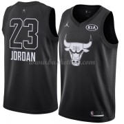 Chicago Bulls Michael Jordan 23# Sort 2018 All Star Game Swingman Basketball Trøjer..