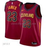 NBA Basketball Trøje Børn Cleveland Cavaliers 2018 LeBron James 23# Icon Edition..