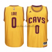 Cleveland Cavaliers Basketball Trøjer 2015-16 Kevin Love 0# Gold Alternate..