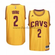 Cleveland Cavaliers Basketball Trøjer 2015-16 Kyrie Irving 2# Gold Alternate..