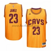 Cleveland Cavaliers Mænd NBA Trøjer 2015-16  LeBron James 23# Gold Alternate Swingman..