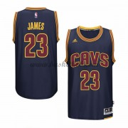 Cleveland Cavaliers Basketball Trøjer 2015-16 LeBron James 23# Navy Alternate..