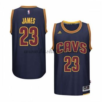 Cleveland Cavaliers Mænd NBA Trøjer 2015-16  LeBron James 23# Navy Alternate Swingman