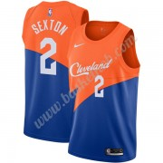 Cleveland Cavaliers Basketball Trøjer NBA 2019-20 Collin Sexton 2# Blå City Edition Swingman..