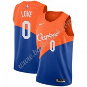 Cleveland Cavaliers Basketball Trøjer NBA 2019-20 Kevin Love 0# Blå City Edition Swingman..