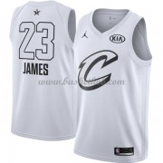 Cleveland Cavaliers LeBron James 23# Hvid 2018 All Star Game Swingman Basketball Trøjer..