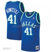 NBA Basketball Trøje Børn Dallas Mavericks Kids 1998-99 Dirk Nowitzki 41# Blue Hardwood Classics..