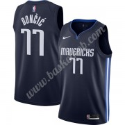 Dallas Mavericks Basketball Trøjer NBA 2019-20 Luka Doncic 77# Marine blå Finished Statement Edition..