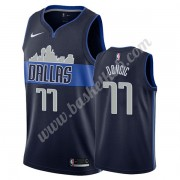 Dallas Mavericks Basketball Trøjer NBA 2019-20 Luka Doncic 77# Marine blå Statement Edition Swingman..