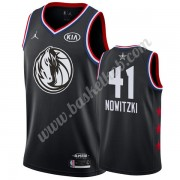Dallas Mavericks 2019 Dirk Nowitzki 41# Sort All Star Game Swingman Basketball Trøjer..