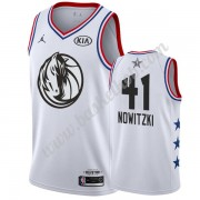 Dallas Mavericks 2019 Dirk Nowitzki 41# Hvid All Star Game Swingman Basketball Trøjer..