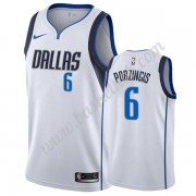 Dallas Mavericks Basketball Trøjer NBA 2019-20 Kristaps Porzingis 6# Hvid Association Edition Swingm..
