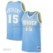 NBA Basketball Trøje Børn Denver Nuggets Kids 2003-04 Carmelo Anthony 15# Light Blue Hardwood Classi..