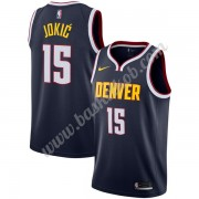 Denver Nuggets Basketball Trøjer NBA 2019-20 Nikola Jokic 15# Marine blå Icon Edition Swingman..