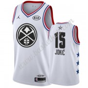 Denver Nuggets 2019 Nikola Jokic 15# Hvid All Star Game Swingman Basketball Trøjer..