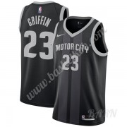 Billige Basketball Trøje Børn Detroit Pistons 2019-20 Blake Griffin 23# Sort City Edition Swingman..