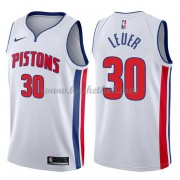 Detroit Pistons Basketball Trøjer 2018 Jon Leuer 30# Association Edition..