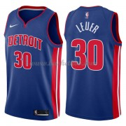 Detroit Pistons Basketball Trøjer 2018 Jon Leuer 30# Icon Edition..